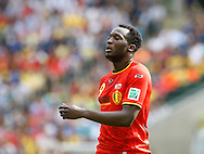 Romelu Lukaku of Belgium looks on during the 2014 FIFA World Cup match at Maracana Stadium, Rio de Janeiro, Brazil. <br /> Picture by Andrew Tobin/Focus Images Ltd +44 7710 761829<br /> 22/06/2014