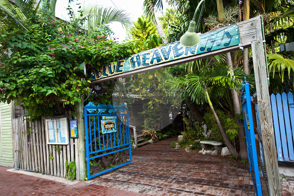 Blue Heaven restaurant and cafe Key West, Florida.