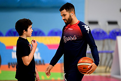 Lewis Champion of Bristol Flyers warms up prior to tip off - Photo mandatory by-line: Ryan Hiscott/JMP - 06/12/2019 - BASKETBALL - SGS Wise Arena - Bristol, England - Bristol Flyers v Sheffield Sharks - British Basketball League Championship