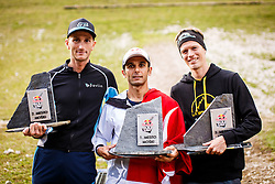 Best three Novak Simon and Kuhar Nejc of Slovenia and Ahmed Arslan of Turkey afterRed Bull 400 Planica, on 17th of September, 2016, in Nordic center Planica, Slovenia. Photo by Grega Valancic / Sportida