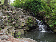 Waterfall where the water from The Pool flows into the Loch in Central Park.