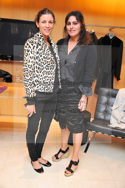 Left to right, LIBERTY ROSS and SOLANGE AZAGURY PARTRIDGE at a preview of the new Holmes & Yang fashion collection at Harvey Nichols, London on 6th July 2011.