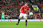 Manchester United defender Matteo Darmian (36) during the EFL Cup match between Manchester United and Burton Albion at Old Trafford, Manchester, England on 19 September 2017. Photo by Richard Holmes.