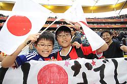 13.07.2011, Commerzbank Arena, Frankfurt, GER, FIFA Women Worldcup 2011, Halbfinale,  Japan (JPN) vs. Schweden (SWE), im Bild Japanische Fans.. // during the FIFA Women´s Worldcup 2011, Semifinal, Japan vs Sweden on 2011/07/13, Commerzbank Arena, Frankfurt, Germany.   EXPA Pictures © 2011, PhotoCredit: EXPA/ nph/  Mueller       ****** out of GER / CRO  / BEL ******