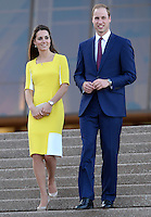 The Duke and Duchess of Cambridge attend a reception at Sydney Opera House as they begin the Australia leg of their tour of New Zealand and Australia in Sydney, Australia, on the 16th April 2014.