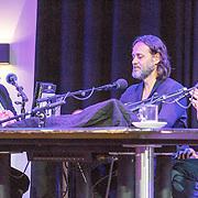 NLD/Amsterdam/20150518 - Uitreiking Storytel Luisterboek Award , Jenny Brouwer in gesprek met Hugo Borst en Vincent Bijlo
