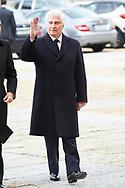 Carlos Fitz-James Stuart, Duke of Alba attend Mass commemorating the 25th anniversary of the death of His Royal Highness the Count of Barcelona Juan of Borbon at Royal Monastery of San Lorenzo de El Escorialon April 3, 2018 in El Escorial, Spain