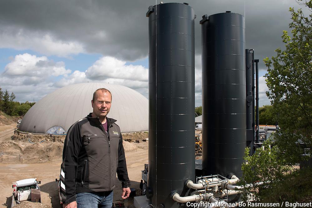 Kim Boldsen. Vårst Fjellerad biogasanlæg, som er under udbygning. Foto: © Michael Bo Rasmussen / Baghuset. Dato: 03.06.15