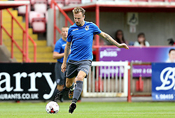 Chris Lines of Bristol Rovers passes the ball during the preseason friendly against Exeter City ahead of the Sky Bet League One season - Mandatory by-line: Robbie Stephenson/JMP - 16/07/2016 - FOOTBALL - St James Park - Exeter, England - Exeter City v Bristol Rovers - Pre-season friendly