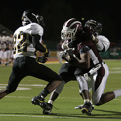 24 October 2008:  St. Thomas Aquinas RB/CB Josh Reed  (#5) The St. Thomas Falcons against the St. Helena Central Hawks at Strawberry Stadium in Hammond, LA.