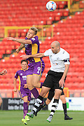 Danny Wright and Ben Clark during the Vanarama National League match between Gateshead and Cheltenham Town at Gateshead International Stadium, Gateshead, United Kingdom on 10 October 2015. Photo by Antony Thompson.