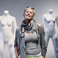 Nederland, Amsterdam , 20 juli 2012..Myon Veenendaal, modeontwerpster en Owner, mfcompany &10days..Foto:Jean-Pierre Jans