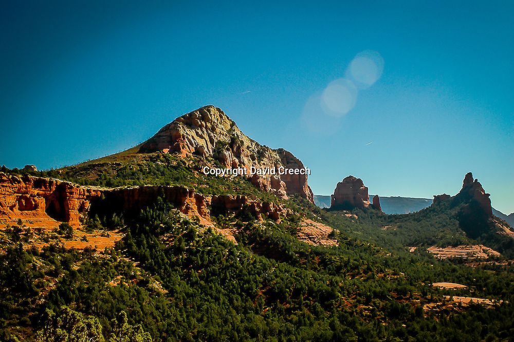 Views from the top of Soldier Pass Trail in Sedona, Arizona.