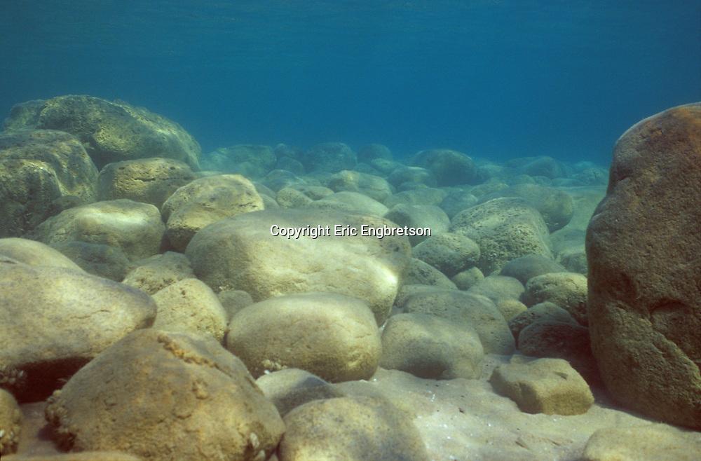 Underwater Scene-Rocky Lake Bottom<br /> <br /> ENGBRETSON UNDERWATER PHOTO