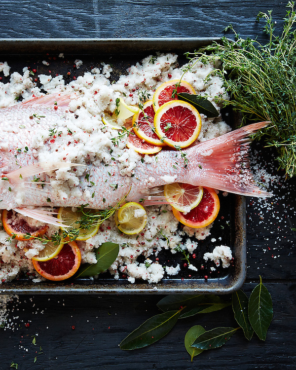 Salt-Encrusted Fish