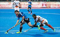 BHUBANESWAR -  Hockey World League finals , Semi Final . Argentina v India.  Diego Paz (Arg) met Amit Rohidas (Ind)   COPYRIGHT KOEN SUYK