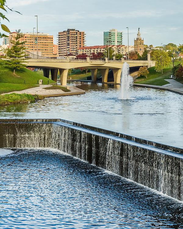 Brush Creek Waterway on the Country Club Plaza, Kansas City, Missouri.