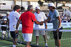 July 22, 2017 - France - Ilie Nastase - Lucas Pouille - Flavio Panatta - Mansour Bahrami (Credit Image: © Panoramic via ZUMA Press)