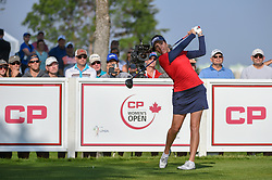 August 23, 2018 - Regina, SK, U.S. - REGINA, SK - AUGUST 23: Georgia Hall (ENG) watches her tee shot on 12 during the CP Women's Open Round 1 at Wascana Country Club on August 23, 2018 in Regina, SK, Canada. (Photo by Ken Murray/Icon Sportswire) (Credit Image: © Ken Murray/Icon SMI via ZUMA Press)