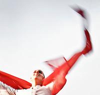 """Una ballerina del gruppo musicale di Pizzica """"Arakne Mediterranea"""" durante un concerto a """"Castello Monaci"""" nei pressi di Salice Salentino in provincia di Lecce. (30/05/2010 PH Gabriele Spedicato)..dancer of band """"Arakne Mediterranea"""" during the concert in """"Castello Monaci"""" near Salice Salentino, a Town in province of Lecce. (30/05/2010 PH Gabriele Spedicato)..La pizzica, o, detta nella sua forma più tradizionale pizzica pizzica, è una danza popolare attribuita oggi particolarmente al Salento, ma in realtà era praticata sino agli anni '70 del XX sec. in tutta la Puglia centro-meridionale e in Basilicata..Fa parte della grande famiglia delle tarantelle, come si usa chiamare quel variegato gruppo di danze diffuse dall'Età Moderna nell'Italia meridionale."""