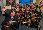 Houston ISD Superintendent Richard Carranza performs with the Sam Houston Mariachi, February 2, 2017.