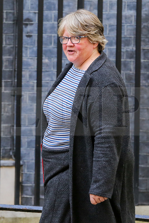 © Licensed to London News Pictures. 16/10/2019. London, UK. ecretary of State for Work and Pensions, Minister for Women And Equalities THÉRÈSE COFFEY arrives in Downing Street to attend the weekly cabinet meeting. This week's cabinet meeting was postponed by one day on Tuesday 15 October amid a final push for a Brexit agreement that can be sealed in time for the European Council summit in Brussels on Thursday and Friday. Photo credit: Dinendra Haria/LNP