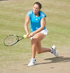 NOTTINGHAM, ENGLAND - Sunday, June 14, 2009: Laura Robson (GBR) on finals day of the Tradition Nottingham Masters tennis event at the Nottingham Tennis Centre. (Pic by David Rawcliffe/Propaganda)