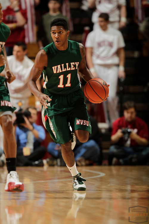 16 November 2010: Mississippi Valley State guard D'Angalo Jackson (11) as the Indiana Hoosiers played the Mississippi Valley State Delta Devils in a college basketball game in Bloomington, Ind.