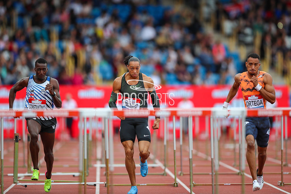 Men's 110m Hurdles Final during the Muller Grand Prix 2018 at Alexander Stadium, Birmingham, United Kingdom on 18 August 2018. Picture by Toyin Oshodi.