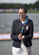 Rotterdam. Netherlands.  Trica SMITH FISA Vice President. 2016 JWRC, U23 and Non Olympic Regatta. {WRCH2016}  at the Willem-Alexander Baan.   Sunday  28/08/2016 <br /> <br /> [Mandatory Credit; Peter SPURRIER/Intersport Images]