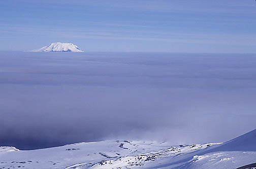 Antarctica, Volcanoe on the South Sandwich Island chain.
