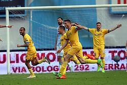 """Foto Filippo Rubin<br /> 26/03/2017 Ferrara (Italia)<br /> Sport Calcio<br /> Spal vs Frosinone - Campionato di calcio Serie B ConTe.it 2016/2017 - Stadio """"Paolo Mazza""""<br /> Nella foto: goal Frosinone di Ciofani<br /> <br /> Photo Filippo Rubin<br /> March 26, 2017 Ferrara (Italy)<br /> Sport Soccer<br /> Spal vs Frosinone - Italian Football Championship League B ConTe.it 2016/2017 - """"Paolo Mazza"""" Stadium <br /> In the pic: Frosinone's goal of Ciofani"""