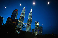 7th IAS Conference on HIV Pathogenesis, Treatment and Prevention (IAS 2013), Kuala Lumpur, Malaysia.<br /> Photo shows the the Petronas Twin Towers at night seen from the Kuala Lumpur Conference Centre.<br /> Photo&copy;International AIDS Society/Steve Forrest/Workers' Photos