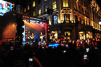 Jamie Theakston; Ashley Jensen; Kelly Clarkson; Matt Cardle; Bill Nighy; Emma Bunton turn on Regent Street Christmas Lights, London  08 November 2011
