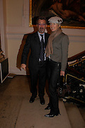 Mr. and Mrs. Eddie Jordan. The opening of Turks: A Journey of a Thousand Years, 600-1600 - an exhibition of Turkish art.  Royal Academy of Arts, Piccadilly, London ONE TIME USE ONLY - DO NOT ARCHIVE  © Copyright Photograph by Dafydd Jones 66 Stockwell Park Rd. London SW9 0DA Tel 020 7733 0108 www.dafjones.com
