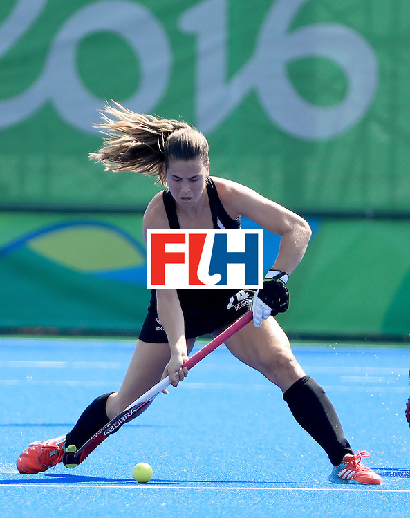 RIO DE JANEIRO, BRAZIL - AUGUST 15:  Rose Keddel #24 of New Zealand controls the ball during a quarterfinal match against Australia at Olympic Hockey Centre on August 15, 2016 in Rio de Janeiro, Brazil.  (Photo by Sam Greenwood/Getty Images)
