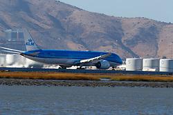 Boeing 787-9 Dreamliner (PH-BHG) operated by KLM departing San Francisco International Airport (KSFO), San Francisco, California, United States of America
