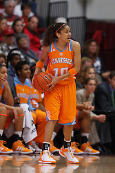 Dec 20, 2011; Stanford CA, USA; Tennessee Lady Volunteers guard Meighan Simmons (10) holds the ball against the Stanford Cardinal during the second half at Maples Pavilion.  Stanford defeated Tennessee 97-80. Mandatory Credit: Jason O. Watson-US PRESSWIRE