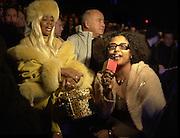 Janice Combs ( Puffy's mother ) & Kal Ruttenstein, Sean John fashion show. Bryant Park. 5/2/2000.<br />© Copyright Photograph by Dafydd Jones 66 Stockwell Park Rd. London SW9 0DA Tel 0171 733 0108 www.dafjones.com