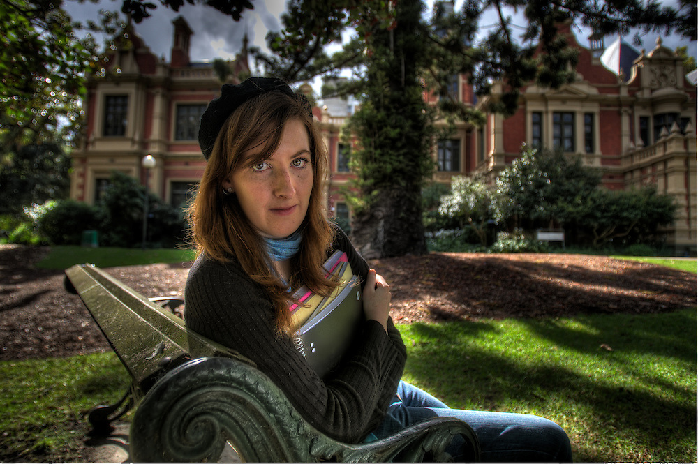 Brigid Wolf  21-year-old medical student who is having to re-mortgage her parents' house to pay for her tuition fees at Melbourne Uni. Yo Pic By Craig Sillitoe CSZ/The Sunday Age 14/4/2011 melbourne photographers, commercial photographers, industrial photographers, corporate photographer, architectural photographers, This photograph can be used for non commercial uses with attribution. Credit: Craig Sillitoe Photography / http://www.csillitoe.com<br />