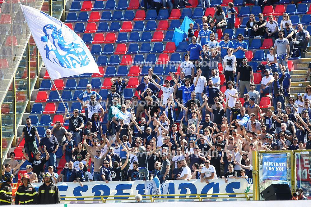 """Foto LaPresse/Filippo Rubin<br /> 27/04/2019 Bologna (Italia)<br /> Sport Calcio<br /> Bologna - Empoli - Campionato di calcio Serie A 2018/2019 - Stadio """"Renato Dall'Ara""""<br /> Nella foto: I TIFOSI DELL'EMPOLI<br /> <br /> Photo LaPresse/Filippo Rubin<br /> April 27, 2019 Bologna (Italy)<br /> Sport Soccer<br /> Bologna vs Empoli - Italian Football Championship League A 2017/2018 - """"Renato Dall'Ara"""" Stadium <br /> In the pic: EMPOLI SUPPORTERS"""