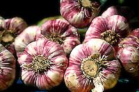 Garlici cloves at an open air market, Paris