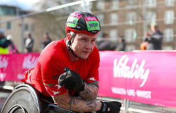 David Weir wins the Men's Wheelchair Race during the Vitality Big Half in London.