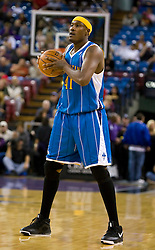 November 29, 2009; Sacramento, CA, USA;  New Orleans Hornets forward James Posey (41) during the first quarter against the Sacramento Kings at the ARCO Arena. Sacramento defeated New Orleans 112-96.