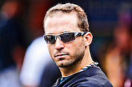 13 September 2009: #19 Marco Scutaro of the Toronto Blue Jays during the MLB game between  Toronto Blue Jays and Detroit Tigers at Comerica Park, Detroit, Michigan. Tigers defeated the Jays 7-2.