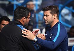 Huddersfield Town manager David Wagner (L) and Tottenham Hotspur manager Mauricio Pochettino - Mandatory by-line: Jack Phillips/JMP - 30/09/2017 - FOOTBALL - The John Smith's Stadium - Huddersfield, England - Huddersfield Town v Tottenham Hotspur - English Premier League