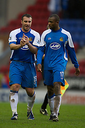 Wigan, England - Sunday, January 21, 2007: Wigan Athletic's David Unsworth and Emmerson Boyce during the Premier League match at the JJB Stadium. (Pic by David Rawcliffe/Propaganda)