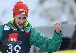 March 22, 2019 - Planica, Slovenia - Markus Eisenbichler of Germany seen  celebrating his victory during the FIS Ski Jumping World Cup Flying Hill Individual competition in Planica. (Credit Image: © Milos Vujinovic/SOPA Images via ZUMA Wire)