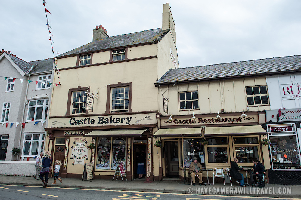 Shops in Beaumaris on the island of Anglesey of the north coast of Wales, UK.