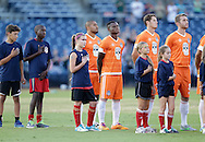August 20, 2016: OKC Energy FC plays the Tulsa Roughnecks FC in a USL game at ONEOK Field in Tulsa, Oklahoma.